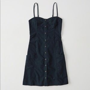Abercrombie & Fitch Cami Skater Button Front Mini